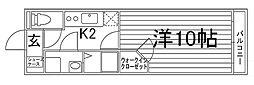 UniE''terna京都壬生[4階]の間取り