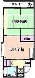 サンマンションオザワ[4階]の間取り