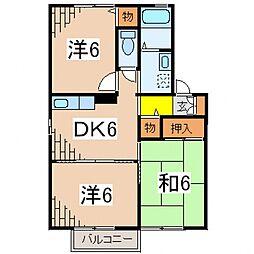 ディアコートA[102号室号室]の間取り