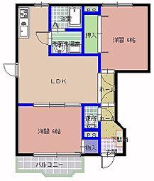 プリムローゼ A棟[1階]の間取り