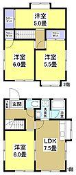 [一戸建] 静岡県袋井市山名町 の賃貸【/】の間取り