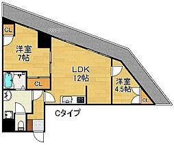 DAIKOマンション[8階]の間取り