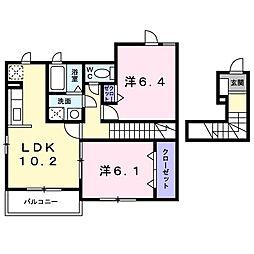 サザンクロスII[1階]の間取り