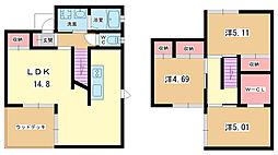 [一戸建] 大阪府豊中市北条町3丁目 の賃貸【/】の間取り