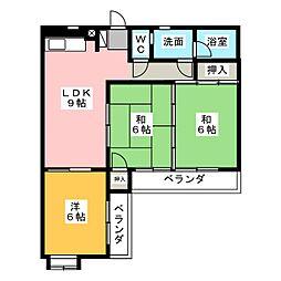 静岡県静岡市駿河区西中原1丁目の賃貸マンションの間取り
