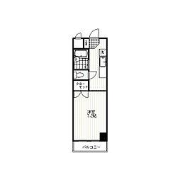 コンフォルトハイツ新宿[4階]の間取り