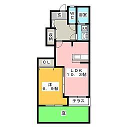 パステルハイム[1階]の間取り