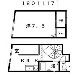 流町テラスハウス[1階]の間取り