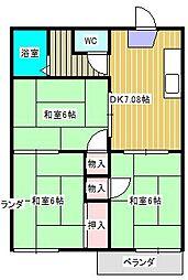 ハイツ小金原[2階]の間取り