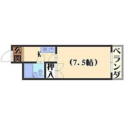 長岡ロイヤルパレス[B303号室]の間取り