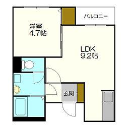 北海道札幌市白石区本通20丁目の賃貸マンションの間取り