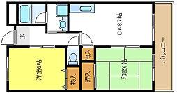 サニーコート・ナカイ[4階]の間取り
