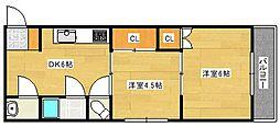 広島県広島市南区宇品西4丁目の賃貸マンションの間取り