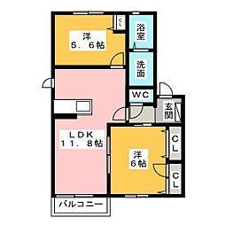 並木C・D[2階]の間取り