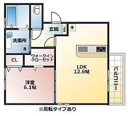 (仮称)D-room恩智中町A棟[1階]の間取り