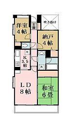 ライオンズマンション谷塚第2[105号室]の間取り