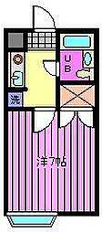 埼玉県さいたま市大宮区浅間町2丁目の賃貸アパートの間取り