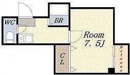 O.D.WEST[3階]の間取り