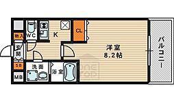 クレアート大阪EAST G4 5階1Kの間取り