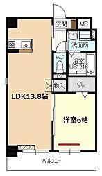 愛知県名古屋市守山区四軒家1丁目の賃貸マンションの間取り