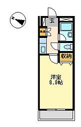 プロニティー230[3階]の間取り