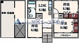 [一戸建] 大阪府大阪市生野区田島6丁目 の賃貸【/】の間取り