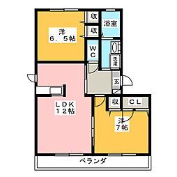 シャンテミヤ[1階]の間取り