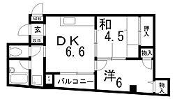 兵庫県神戸市兵庫区湊町1丁目の賃貸マンションの間取り