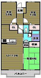 ロジェ長野[3階]の間取り