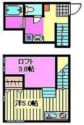埼玉県川口市北園町の賃貸アパートの間取り
