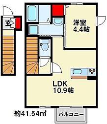 スフェール823 B棟[203号室]の間取り