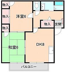 ハイツK[B202号室]の間取り