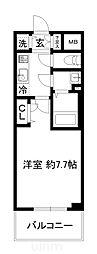 JR東海道・山陽本線 西大路駅 徒歩4分の賃貸マンション 6階1Kの間取り