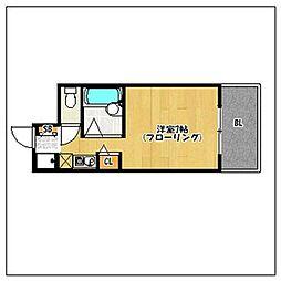 パンルネックス・クリスタル福大東[205号室]の間取り