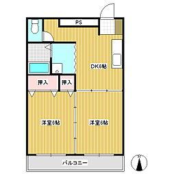 東信ハイツE棟[1階]の間取り