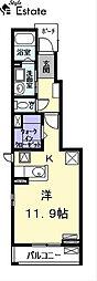 パーチェII (パーチェツー)[1階]の間取り