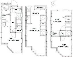 [一戸建] 東京都足立区西新井栄町3丁目 の賃貸【/】の間取り