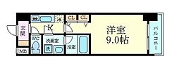 Osaka Metro御堂筋線 淀屋橋駅 徒歩5分の賃貸マンション 6階1Kの間取り