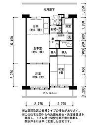 津久野南団地[2階]の間取り
