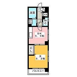 フローレス東比恵[5階]の間取り