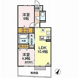 (仮)D-room福島1丁目 A棟[1階]の間取り