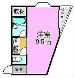 ブルーム堺東[2階]の間取り