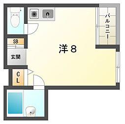 ロータリーマンション古川橋[4階]の間取り