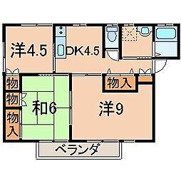 2119ヴァム清C[2階]の間取り