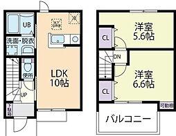 ルミエール 1階2LDKの間取り