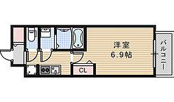 Osaka Metro御堂筋線 昭和町駅 徒歩13分の賃貸マンション 5階1Kの間取り