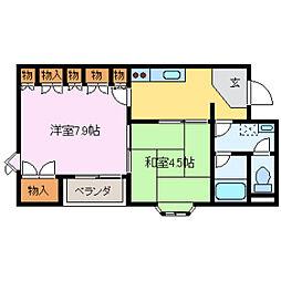 サンシャトー宝[2階]の間取り