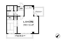 学芸大KYハイツ[3階]の間取り