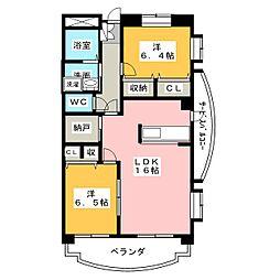 PASTORAL岡崎柱[3階]の間取り