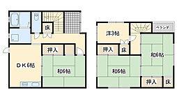 [一戸建] 大阪府泉佐野市新安松3丁目 の賃貸【/】の間取り